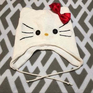 Hello Kitty hat with ears Hello Kitty face bow
